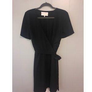 Little black wrap dress